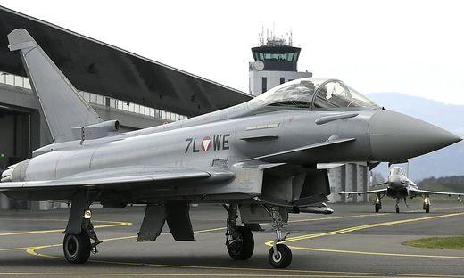 ARCHIVBILD: THEMENBILD: EUROFIGHTER IM FLIEGERHORST HINTERSTOISSER