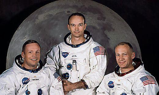 Neil A. Armstrong, Michael Collins, und Edwin E. ´Buzz´ Aldrin