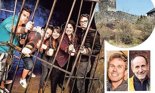 """Ziel des """"Escape Dungeon im Mittelalterstil"""", der vier Jahre lang in Sörg war, ist die gemeinsame Flucht aus dem Kerker; Die Burg Liebenfels soll zum neuen Standort der Kerkerflucht werden, Umzug schon im März möglich"""