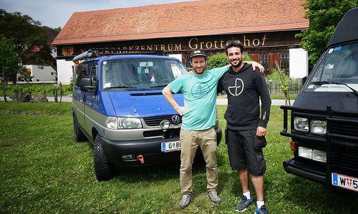 Felix Rupitsch und Ali Deliri organisieren die zweiten Van-Days am Grottenhof in Leibnitz
