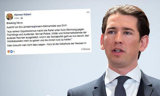 Bundeskanzler Sebastian Kurz wird in einem Facebook-Posting übel beschimpft