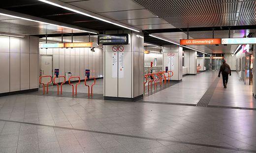 Kaum Passagieraufkommen in den Wiener U-Bahnen