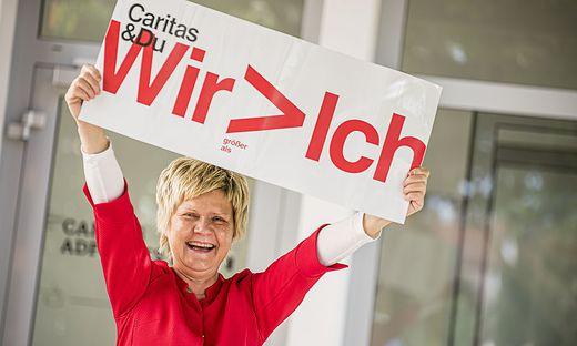 """Erna Petek leitet das """"Caritas: Team Lebensgestaltung"""", das es seit zehn Jahren gibt, seit drei Jahren"""