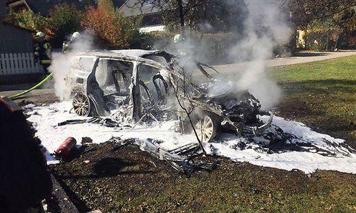 Das Auto brannte aus