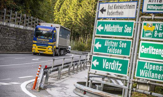 Der Großteil der Fahrzeuge im Gegendtal fällt unter den erlaubten Ziel- und Quellverkehr