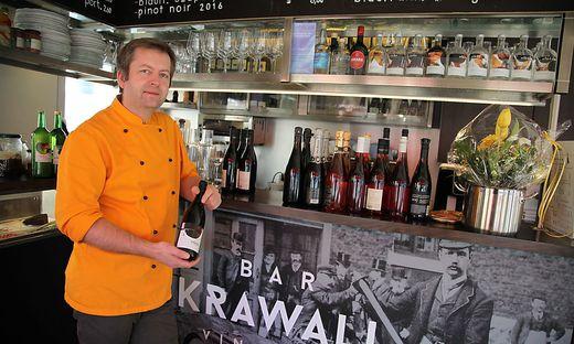 Markus Leitgeb hat Rudersdorf den Rücken gekehrt und kocht nun in Wien auf zwei Kochplatten