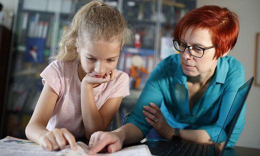 Eine Prüfung auch für die Eltern: Heimunterricht