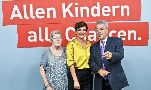 Elisabeth Orth, Pamela Rendi-Wagner und Heinz Fischer