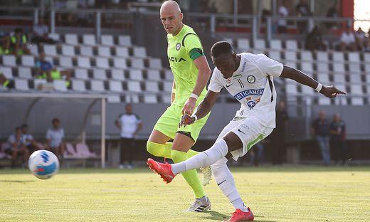 Kelvin Yeboah (rechts) traf zum 2:0 für Sturm