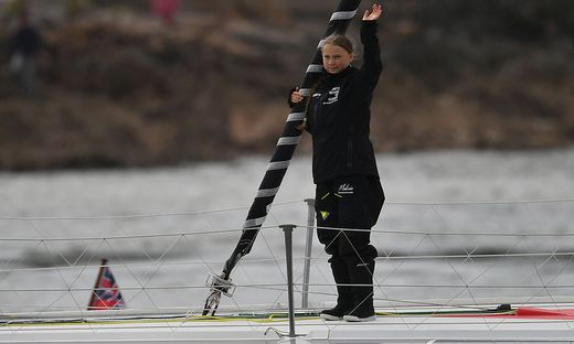 Greta Thunberg bewältigte erste Segelmeilen auf dem Atlantik