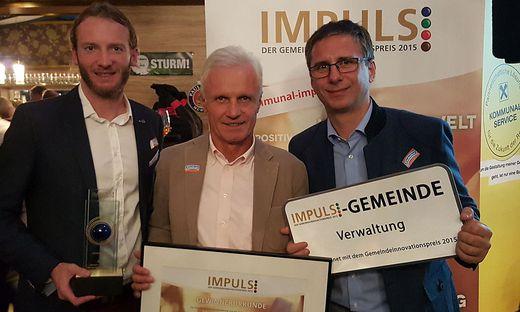 Wolfgang Lang, Gerhard Peinhaupt, Martin Haidvogl (von links)