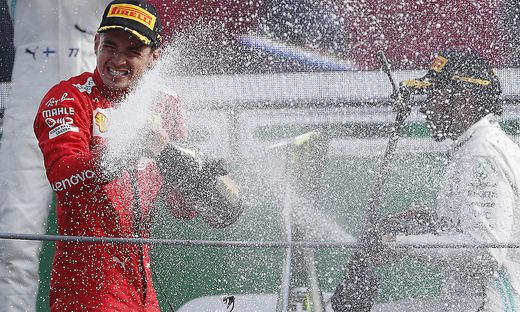 Charles Leclerc (links) triumphierte in Monza