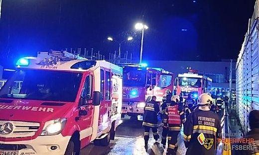 Abendlicher Feuerwehreinsatz im Lavanttal