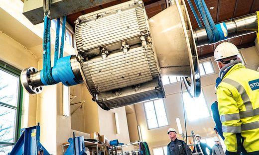 Das Kelag-Kraftwerk in Kamering geht nach der Sanierung in den Probebetrieb