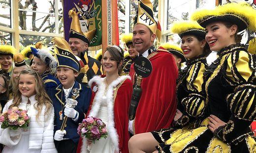 Prinzessin Hannah I., Hannah Widnig und Prinz Fidelius LXV., Roland Augustin führen den Villacher Fasching an