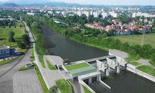 Das Grazer Murkraftwerk