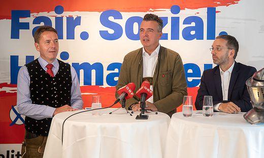 FPÖ-Wahlkämpfer: Erwin Angerer, Gernot Darmann, Herbert Kickl
