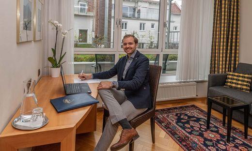 Alexander Gerlach vom Hotel Gollner: Ein Zimmer im Hotel kann man jetzt auch als Büroraum mieten
