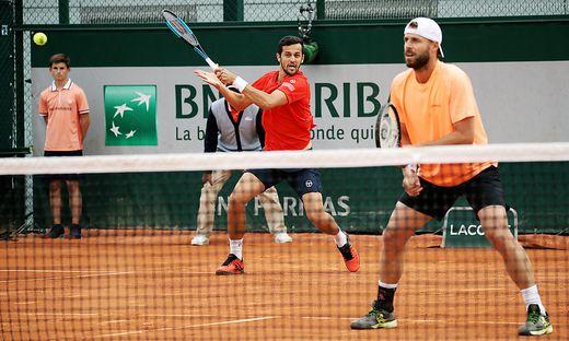 Mate Pavic und Oliver Marach (von links)