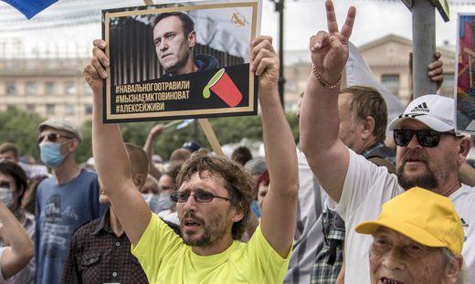 Solidaritätsbekundungen für Navalny bei Protesten im Fernen Osten Russlands