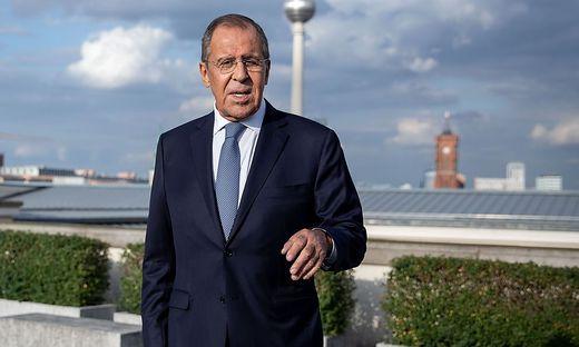 Russlands Auszenminister Lawrow bei Auszenminister Maas