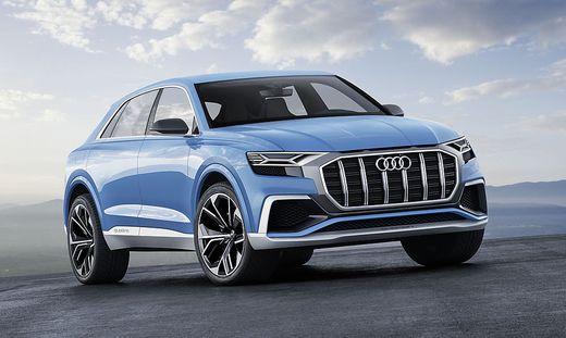 Das Audi Q8 Concept steht auf der Autoshow in Detroit