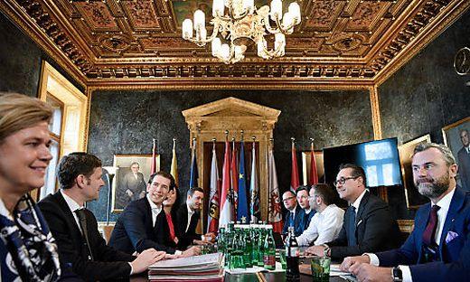 Die Steuerungsgruppe von ÖVP und FPÖ
