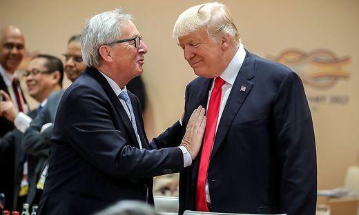 Freundliche Miene: EU-Kommissionspräsident Jean-Claude Juncker und US-Präsident Donald Trump