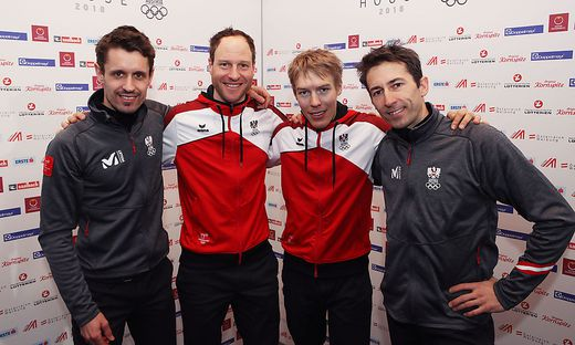 Das Team: Klapfer, Gruber, Rehrl, Denifl (von links)