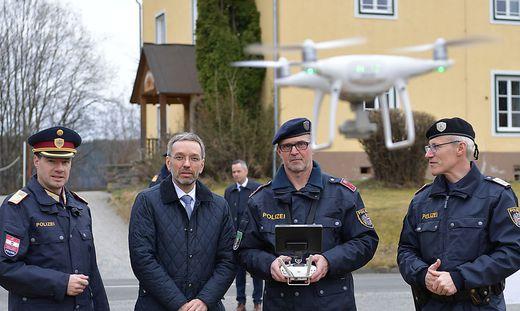 Drohnen wurden vorgeführt