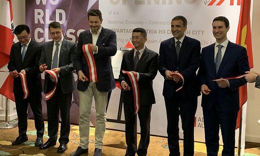 Wirtschaftskammerpräsident Harald Mahrer ist auf Wirtschaftsmission in Vietnam