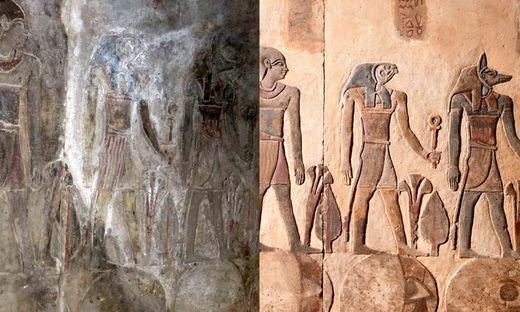 Vor und nach der Restaurierung