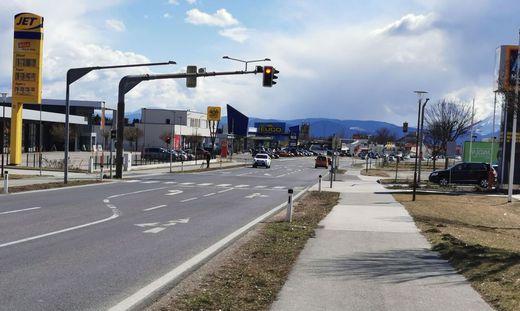 Die Kreuzung in Wolfsberg, an welcher der Unfall geschah