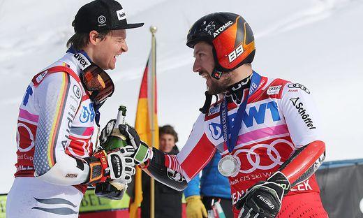 Marcel Hirscher (rechts) mit Beaver-Creek-Sieger Stefan Luitz