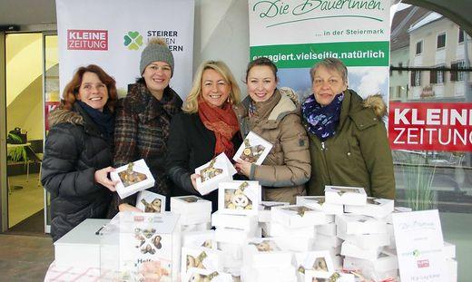 117 Kilo Kekse wurden im Vorjahr in Bruck verkauft