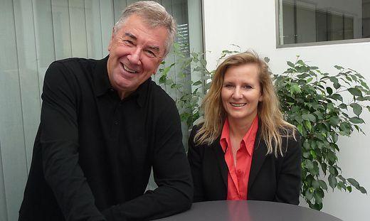 Bürgerforums-Gründer Franz Vollmann mit Spitzenkandidatin Manuela Kittler