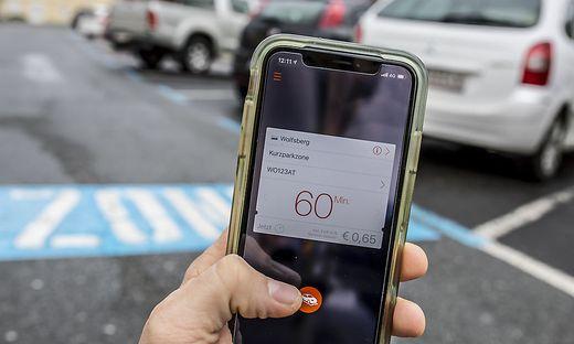 Seit 2012 ist Handy-Parken in der Wolfsberger Innenstadt möglich. Entweder per App oder mittels SMS. Doch genutzt wird es wenig