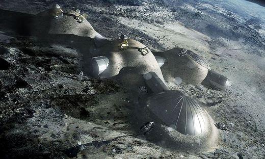 So könnte eine permanente Station auf dem Mond aussehen - nach den Plänen der ESA