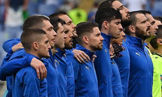 Nur ein Teil der italienischen Fußballer schloss sich dem walisischen Protest an