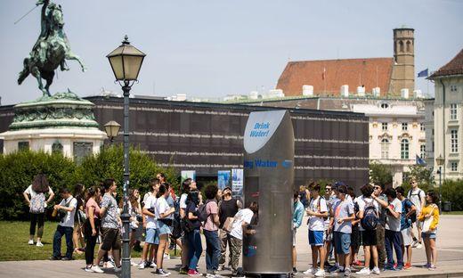 Trinkbrunnen am Heldenplatz