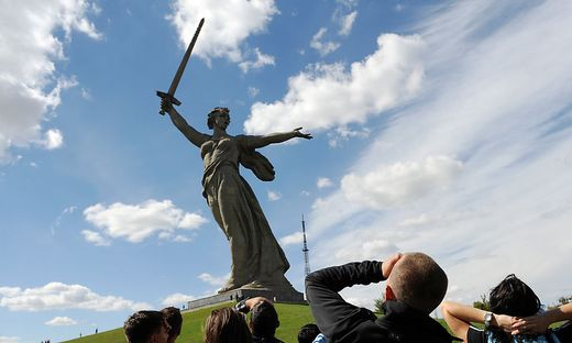 """Die riesige """"Mutter-Heimat""""-Statue in Wolgograd"""