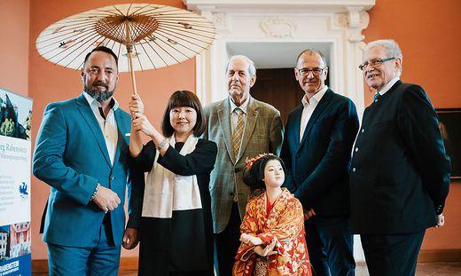 Jürgen Unterrainer, Michiko Echigoya, Peter Pantzer, Wolfgang Muchitsch und Johann Ramharter