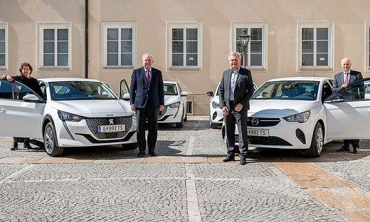 Lackner, Schützenhöfer, Lang und Seitinger: E-Autos fürs Landesdienst.