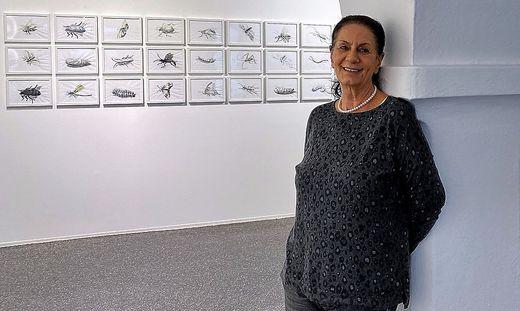 Petra Schilcher in ihrer Galerie Artelier Contemporary