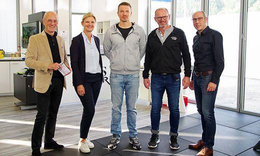 Siegfried Nerath, Vizebgm. Susanne Kaltenegger, Markus Gander, Günther Schöberl, Sport-Gemeinderat Christian Mayer (von links)