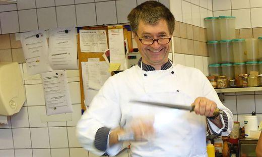 Haubenkoch Johann Wöls vom Restaurant Hubinger
