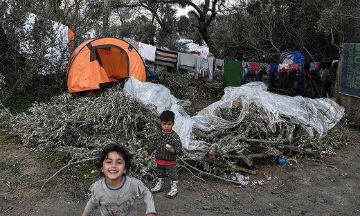 Migrantenkinder auf der Insel Chios