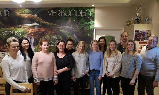Vor der WM in Are  logierten die ÖSV Damen beim Spengerwirt in Hirschegg