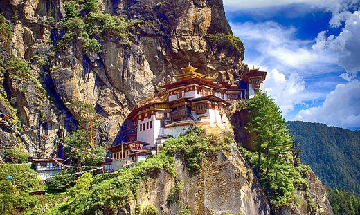 Das bekannteste Kloster Bhutans: das Tigernest