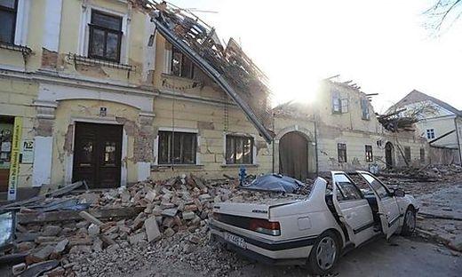 Schwere Schäden durch das Beben, das auch in Österreich stark zu spüren war